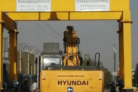 جرثقیل دروازه ای جفت پل 10 تن شرکت تونل پاژ تهران